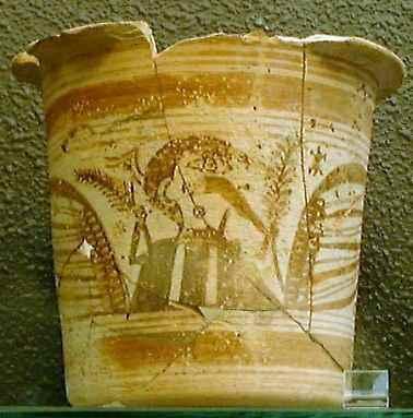 Aunque se tilízó en todo el mundo ibérico como recipiente de uso cotidiano, este recipiente de cerámica se usó también en los ritos ibéricos de todo tipo
