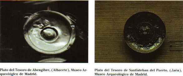 Pátera del Tesoro d Abengibre, Albacete Pátera del Tesoro de Satiesteban del Puerto(Jaén), ambas alojadas en el Museo Arqueológico de Madrid.